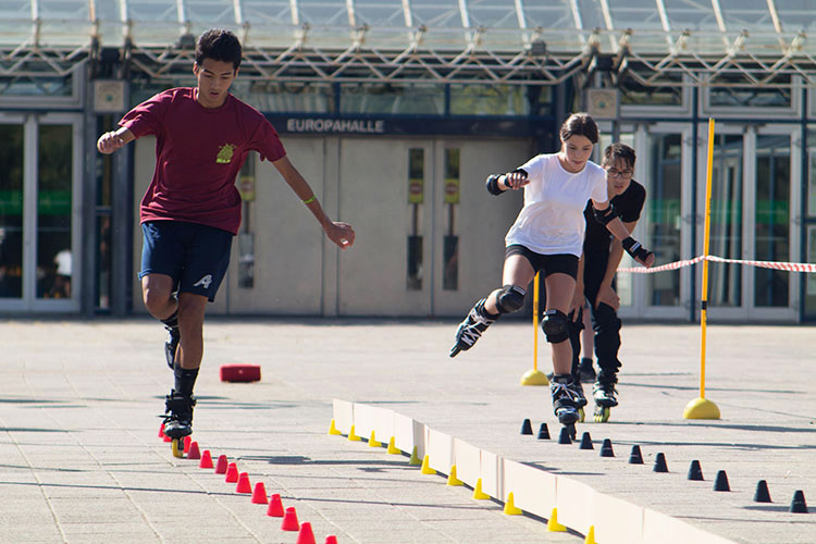 Speed Slalom k.o.-Runde beim BATTLE OF BADEN 2020 in Karlsruhe